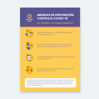 Szablon plakatu do zapobiegania koronawirusom