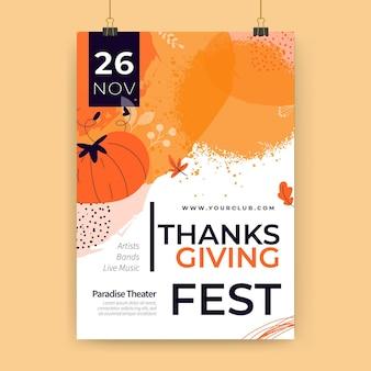 Szablon plakatu dziękczynienia