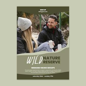Szablon plakatu dzikiej przyrody