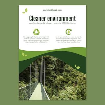 Szablon plakatu ekologii