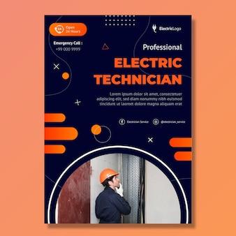Szablon plakatu elektryka