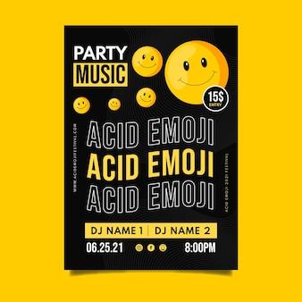 Szablon plakatu emoji kwasu