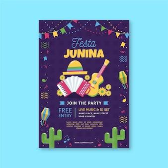 Szablon plakatu festa junina