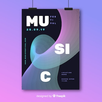 Szablon plakatu festiwalu muzyki elektronicznej