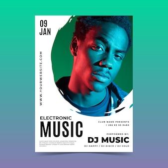 Szablon plakatu festiwalu muzyki na żywo