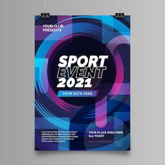 Szablon plakatu imprezy sportowe