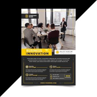 Szablon plakatu innowacji biznesowych