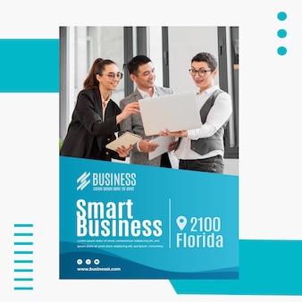Szablon plakatu inteligentnego biznesu