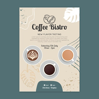 Szablon plakatu kawy bistro