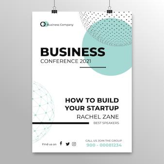 Szablon plakatu konferencji biznesowej