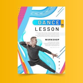 Szablon plakatu lekcji tańca
