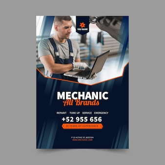 Szablon plakatu mechanika