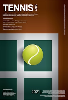 Szablon plakatu mistrzostw tenisa