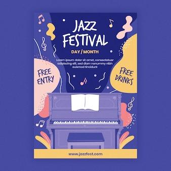Szablon plakatu muzyki jazzowej