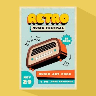 Szablon plakatu muzyki retro