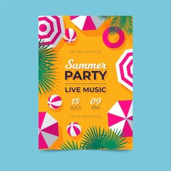 Szablon plakatu na letnią imprezę
