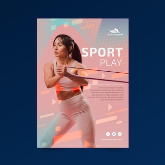 Szablon plakatu na siłowni fitness