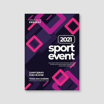 Szablon plakatu na wydarzenie sportowe