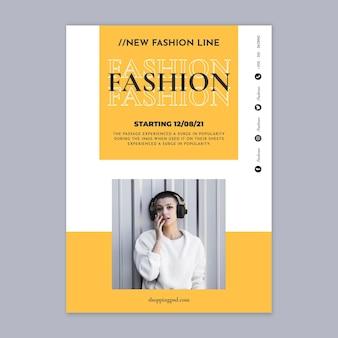 Szablon plakatu na zakupy moda online