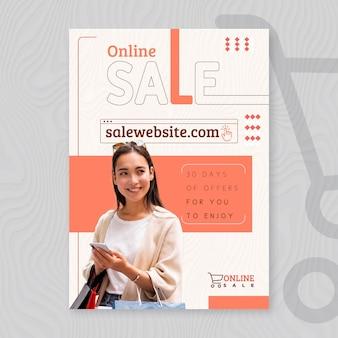 Szablon plakatu na zakupy online