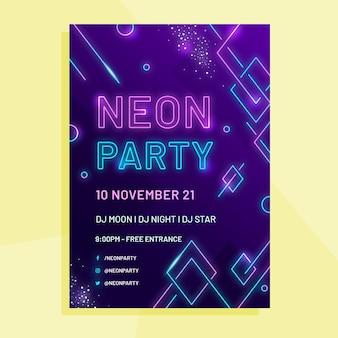 Szablon plakatu neonowego