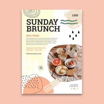 Szablon plakatu niedzielny brunch