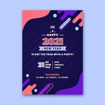 Szablon plakatu nowy rok 2021