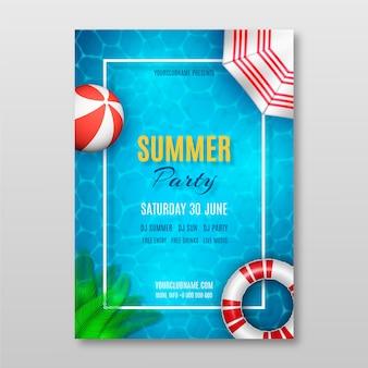 Szablon plakatu partii realistyczne lato