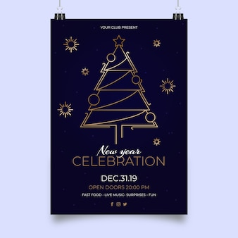 Szablon plakatu party nowy rok
