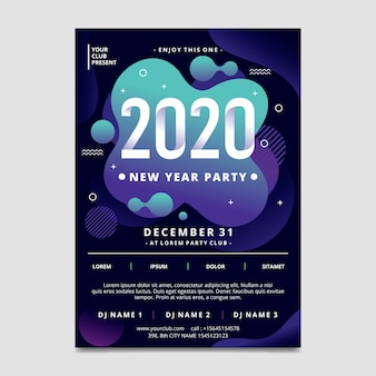 Szablon plakatu party streszczenie nowy rok