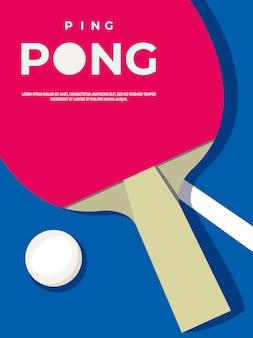 Szablon plakatu ping ponga