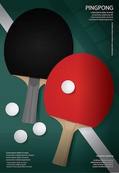 Szablon plakatu pingpong