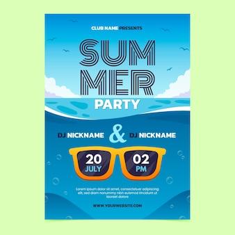 Szablon plakatu pionowego gradientu lato party