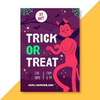 Szablon plakatu pionowego halloween