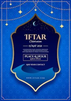 Szablon plakatu pionowego iftar