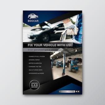 Szablon plakatu pionowego mechanika