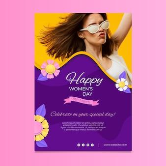 Szablon plakatu pionowego międzynarodowego dnia kobiet