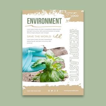Szablon plakatu pionowego środowiska