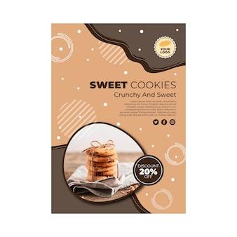 Szablon plakatu plików cookie