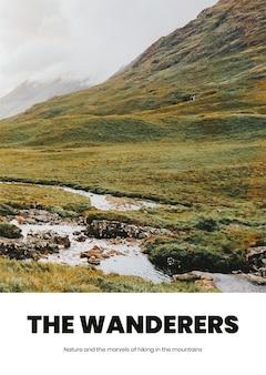 Szablon plakatu podróżnego w stylu minimalistycznym