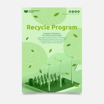 Szablon plakatu programu recyklingu