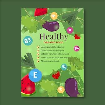 Szablon plakatu promocji zdrowej żywności