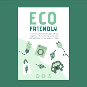 Szablon plakatu przyjazny dla środowiska