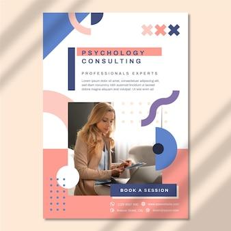 Szablon plakatu psychologii ze zdjęciem