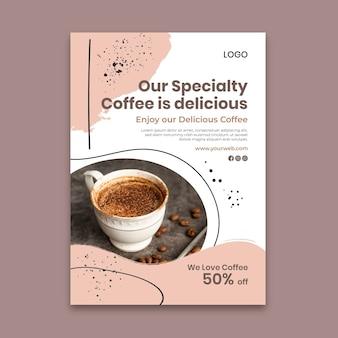 Szablon plakatu pysznej kawy