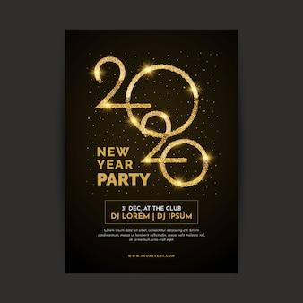 Szablon plakatu realistyczny nowy rok