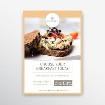 Szablon plakatu restauracji śniadanie