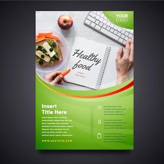 Szablon plakatu restauracji zdrowej żywności