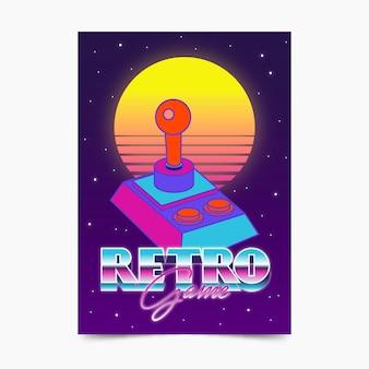 Szablon plakatu retro gier