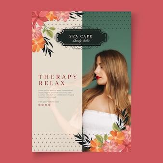 Szablon plakatu salon mody kosmetycznej